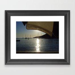 Last moments of sunlight  Framed Art Print