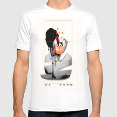 Bask In Mens Fitted Tee White MEDIUM