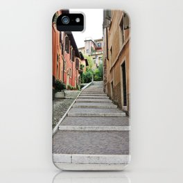 Stairs in Verona - Italy | Pastel Photography | Art print | Photo print iPhone Case
