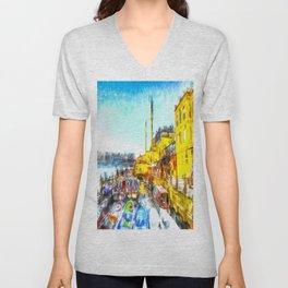 Istanbul Art Unisex V-Neck