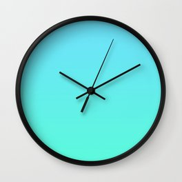 Blue Green Ombre Wall Clock