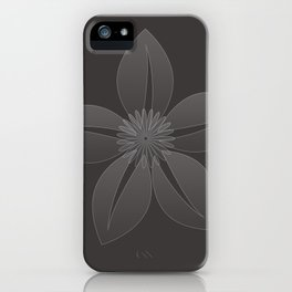 Cute Sheer Jasmin Flower iPhone Case