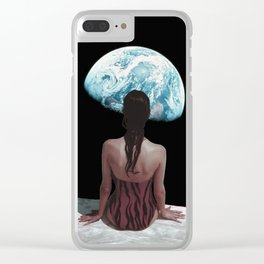 The strange feeling of being an outsider Clear iPhone Case