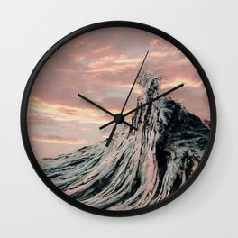 WAVE # 2 - sky Wall Clock