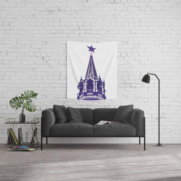 Kremlin Chimes-violet Wall Tapestry