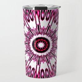 Pink White Black Explosion Travel Mug