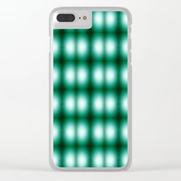 Color gradient 02012019 green Clear iPhone Case