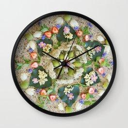 Nature Mandala: June Wall Clock