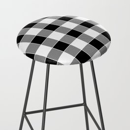 Buffalo Check - black / white Bar Stool