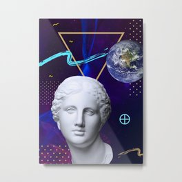Ancient Gods and Planets: Earth Metal Print