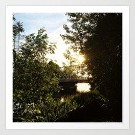The Footbridge Art Print