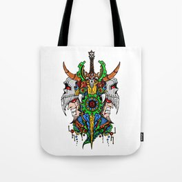 Gemini Skull Zodiac Sign For May and June Birth Day Gift Tote Bag