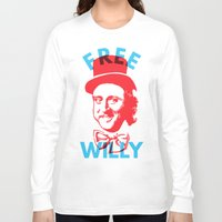 willy wonka Long Sleeve T-shirts featuring Free Willy (Wonka) by Tabner's