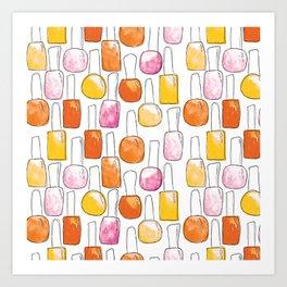 Nail Polish | Orange Palette Art Print