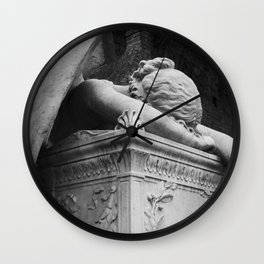Mourning Angel Wall Clock