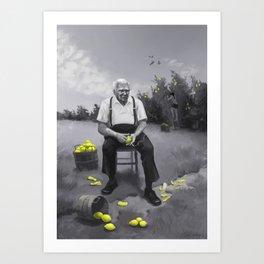 Lemon Man Art Print