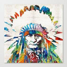 Native American Art - Chief - By Sharon Cummings Canvas Print