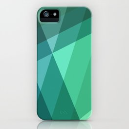 Fig. 046 Mint, Sea Green, Blue & Teal Geometric iPhone Case