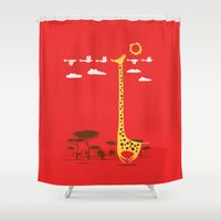 ilovedoodle Shower Curtains featuring I'm Like A Bird by I Love Doodle