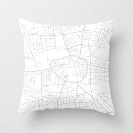 Dortmund, Germany Minimalist Map Throw Pillow
