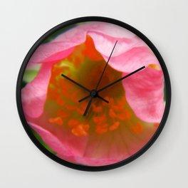 Wild Rose 4 Wall Clock