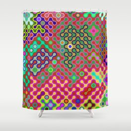 flying labyrinth Shower Curtain