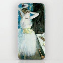 Dancer in Her Dressing Room by Edgar Degas iPhone Skin