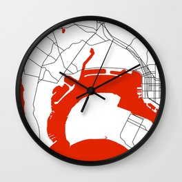 Point Loma  San Diego Map Wall Clock