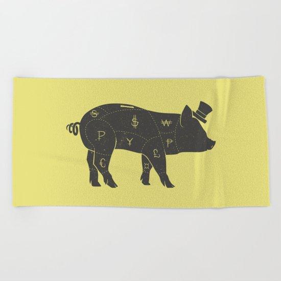 Piggy Bank Beach Towel