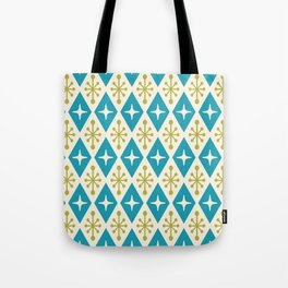 Mid Century Modern Atomic Triangle Pattern 108 Tote Bag