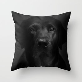 I met a girl (Black and white version) Throw Pillow