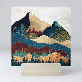 Malachite Mountains Mini Art Print