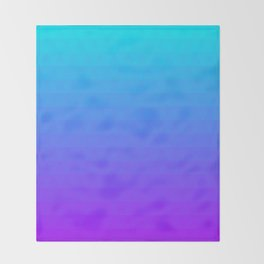 Blue and Purple Ombre Throw Blanket