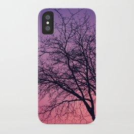 Purple Peach Sunset iPhone Case
