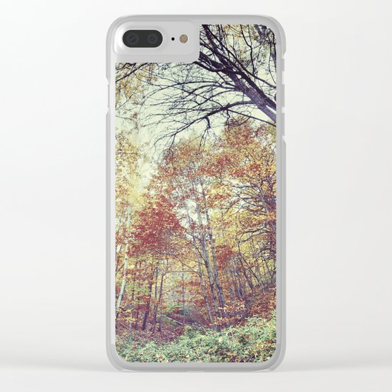 """""""Into the woods"""" Autumn wander. Clear iPhone Case"""