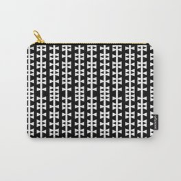 Bows - Black and White geometric minimal bow pattern  Carry-All Pouch