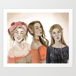 The Archeon Sisters Art Print
