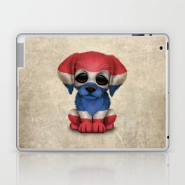 Cute Puppy Dog with flag of Thailand Laptop & iPad Skin