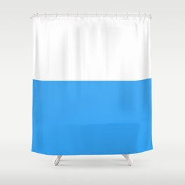 Blue Bottom Shower Curtain