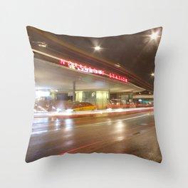 Norreport at night 2 Copenhagen Throw Pillow