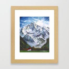 Jungfrau mountain. Swiss Alps Framed Art Print