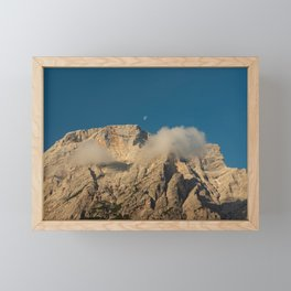 The top of the Seekofel with the shadow of two passing clouds Framed Mini Art Print