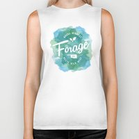 wes anderson Biker Tanks featuring Forage, OK by Laura Anderson by Elliot Matson