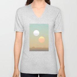 two suns Unisex V-Neck