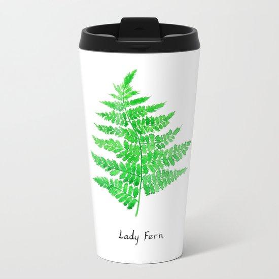 Lady fern Metal Travel Mug