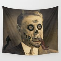 satan Wall Tapestries featuring Satan by Beery Method