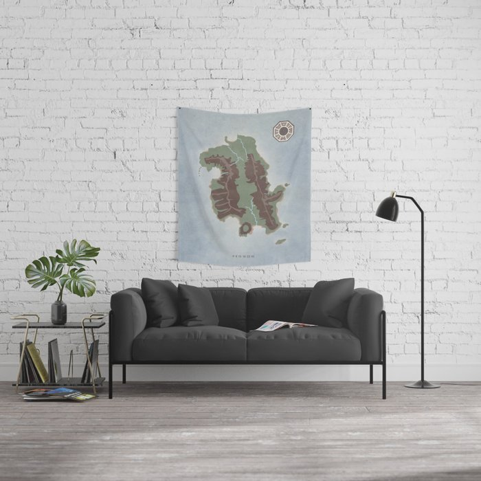 Lost Island Wall Tapestry