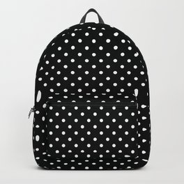 Black With White Dots Backpack