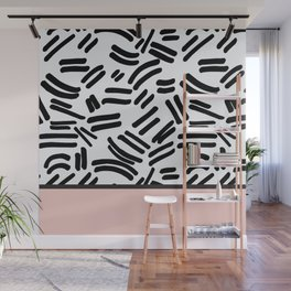 Patterned & Pink Wall Mural