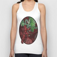 dragonball Tank Tops featuring The Dragon on Mars by David Comito